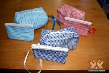 Borsello + portamonete tessuto bisaccia