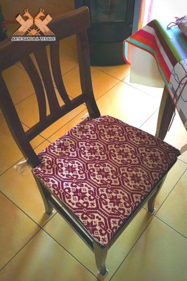 cuscino per sedia disegno gancios doppia faccia
