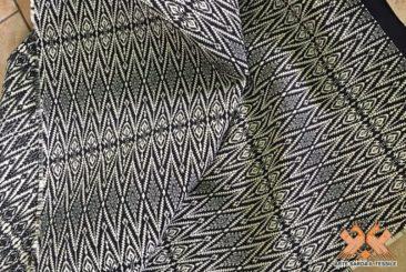 tappeto fondo nero doppia faccia disegno sa cannughedda